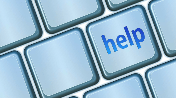 """""""Help"""" keyboard button to accompany blog about the Freedom Relief Loan for help during COVID-19"""