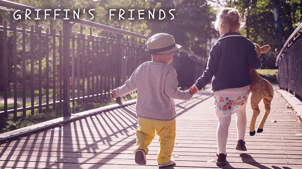 Image of two young children walking on bridge holding hands for a blog about a fundraiser to support children with cancer
