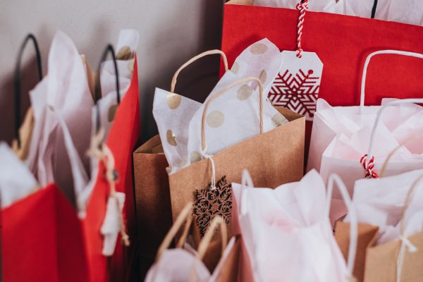 gift bags for a blog about holiday shopping season