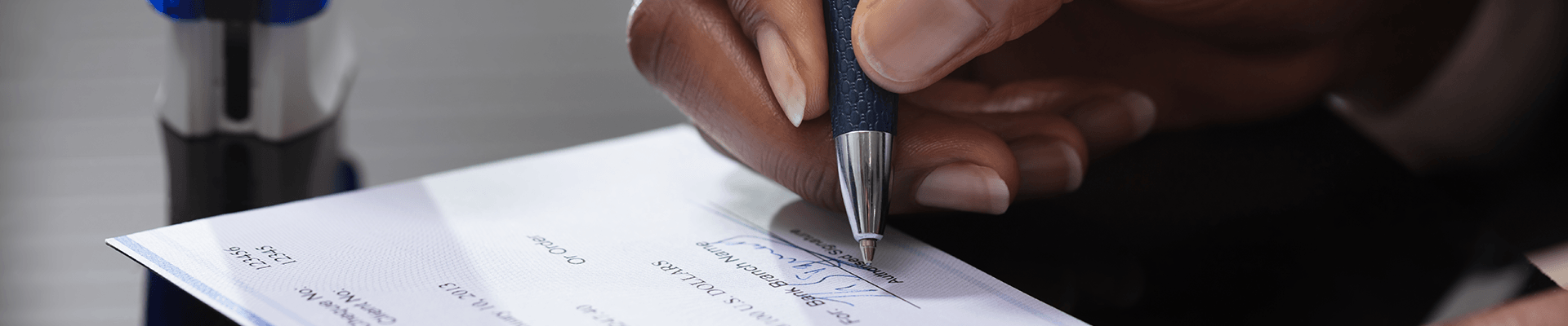 writing a personal check